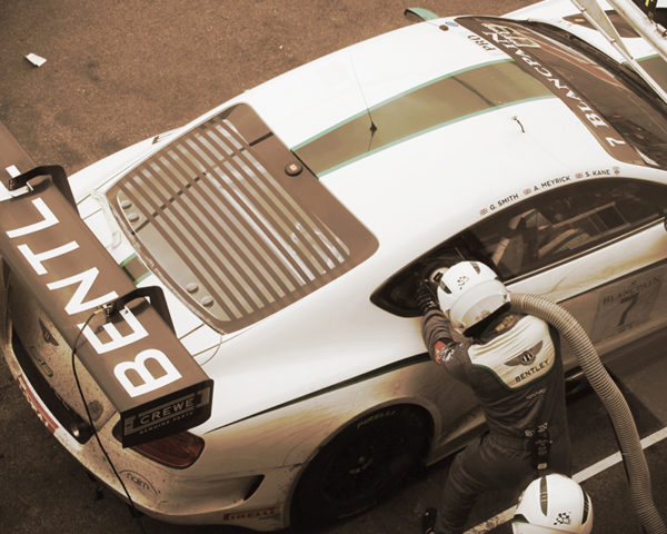 Bentley GT3 Refueling #13 Sepia Edition