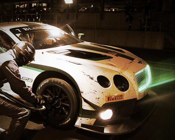 Bentley GT3 by night