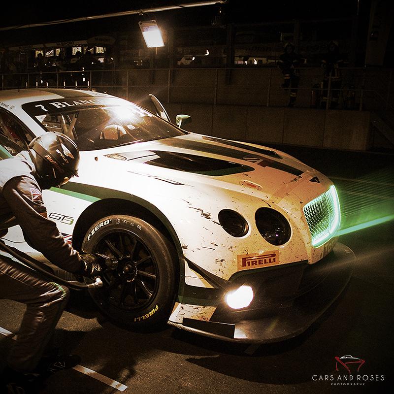 Bentley GT3 by night