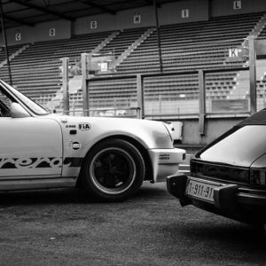 Black and White Photo Porsche 911
