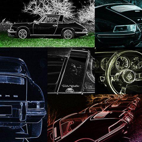 Car Pop Art Porsche Targa