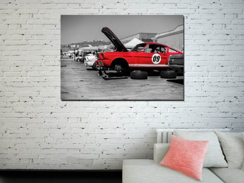 Deco wall print Ford Mustang