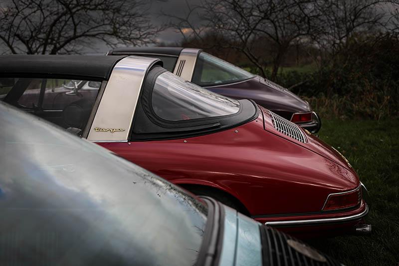 Decorative Car Print Old Porsche Targa
