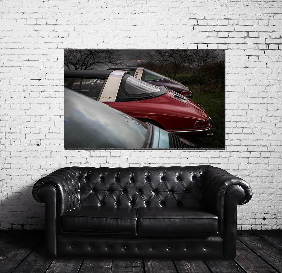 Decorative Car Prints Old Porsche Targa