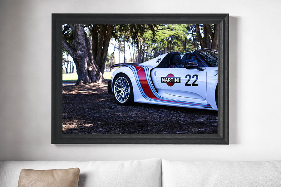 Decorative Car Prints Porsche 918