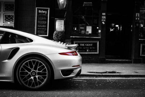 Decorative Framework Car Photograph Porsche