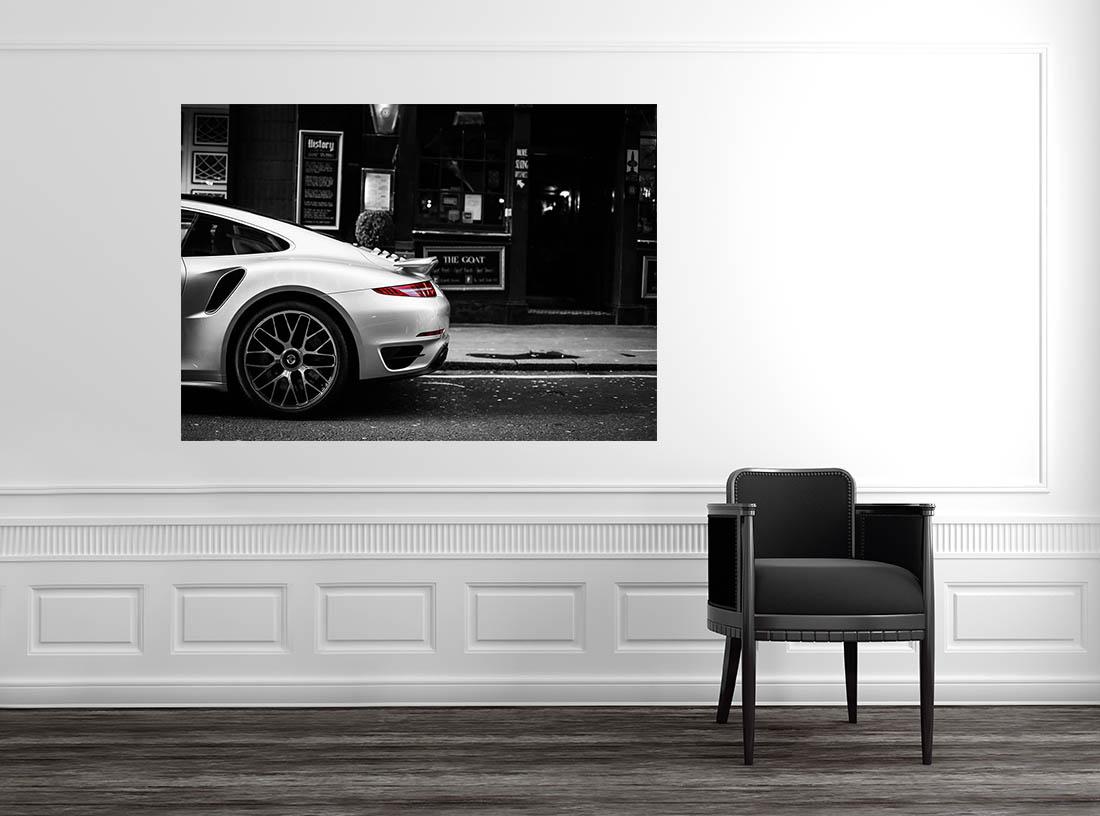 Decorative Framework Car Photograph Porsche Cars And Roses