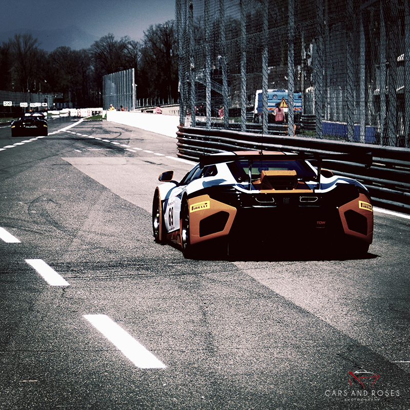 McLaren Mp4 entering on the track