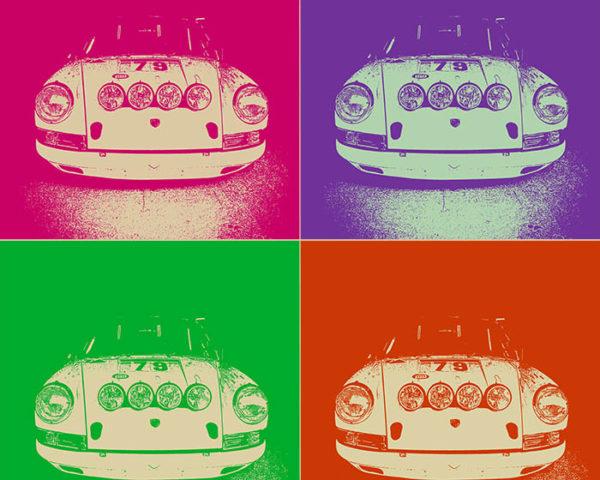 Modern Porsche Pop Art