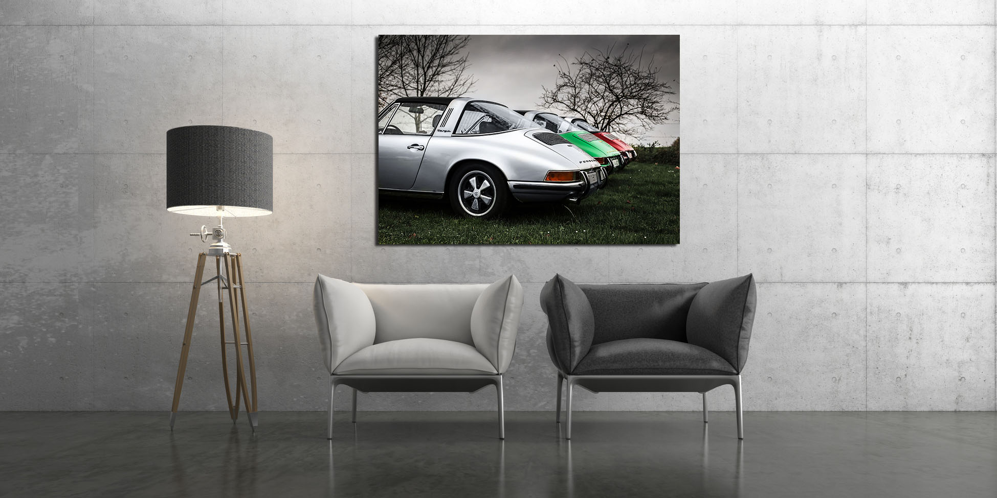 Old Porsche Targa Photograph