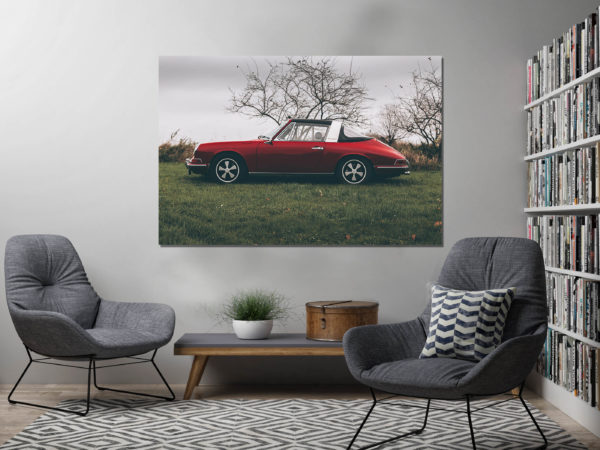 Red Porsche Targa Photographs