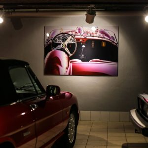 Photo Print Ferrari Cars and Roses