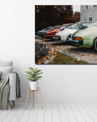 Line of Porsche 911 Photographs