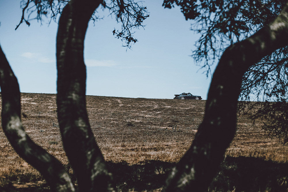 Porsche and Landscape Photograph