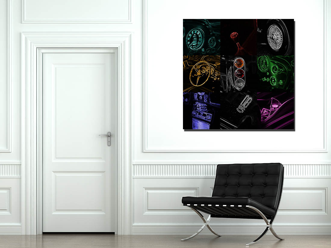 Pop Art Aston Martin DB5 Print
