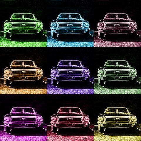 Pop Art Print Ford Mustang