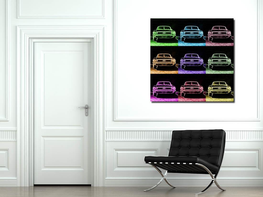 Pop Art Prints Ford Mustang