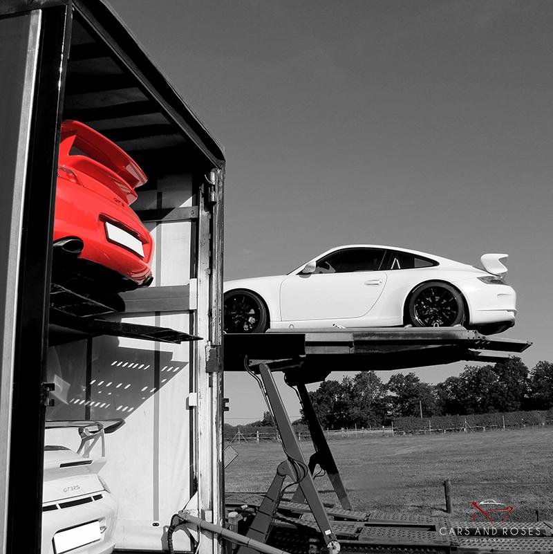 Porsche 911 GT3 in the truck
