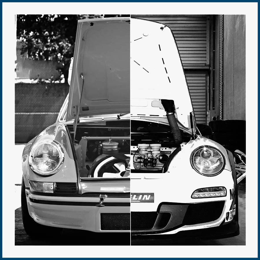 Porsche Hood Wall Print
