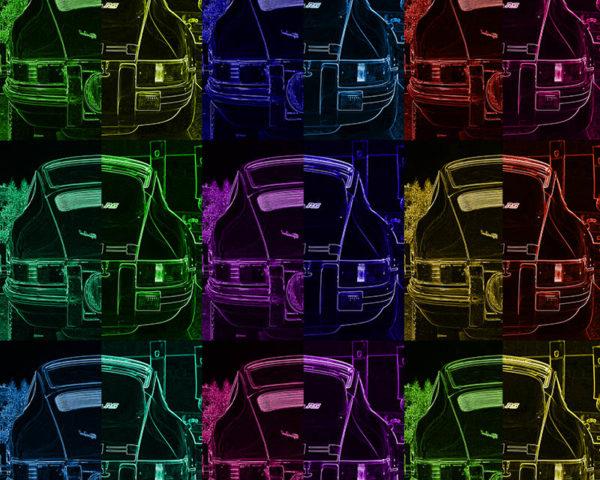 Porsche Pop Art Print
