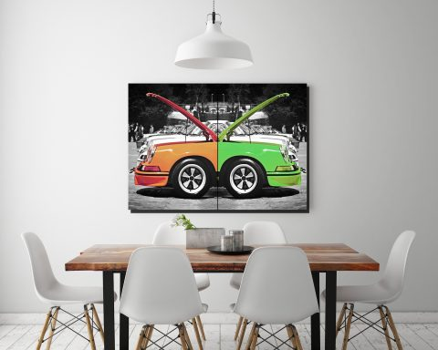 Porsche Wall Art - Cars and Roses