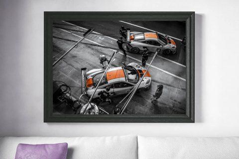 Race Car Wall Print | Cars and Roses