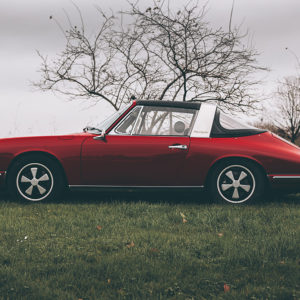 Red Porsche Targa Photograph