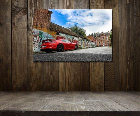 Sport Cars Wall Print Porsche GT4