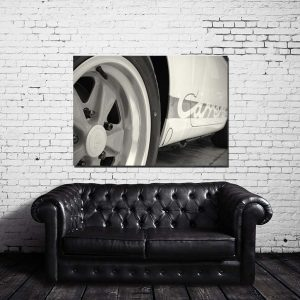 Black and White Porsche Canvas