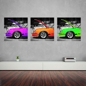 Canvas Tryptic Porsche Art