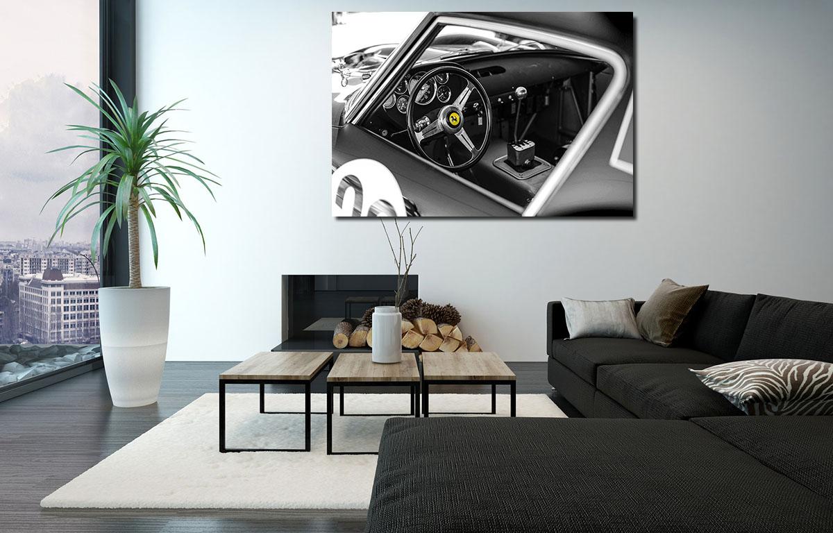 Deco Car Print Ferrari