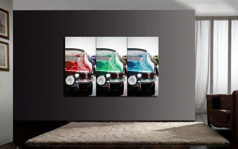 Porsche 911 Art Tryptic