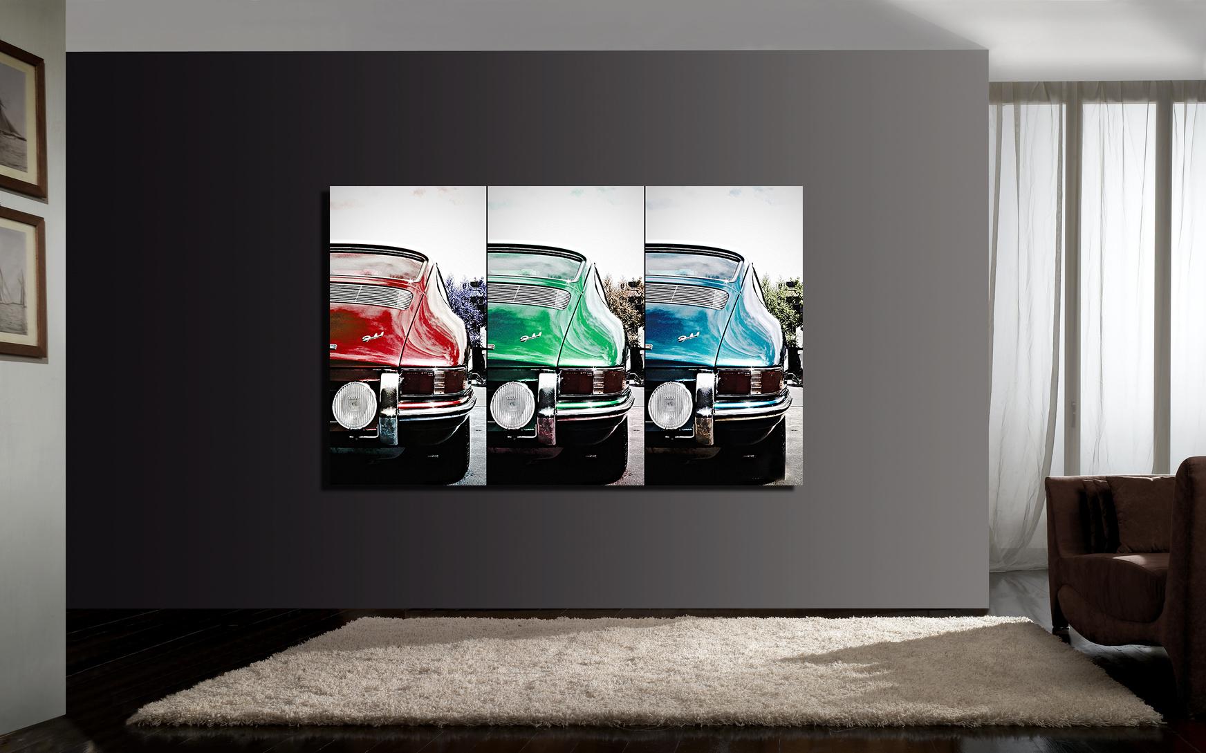 Porsche 911 Art Tryptic