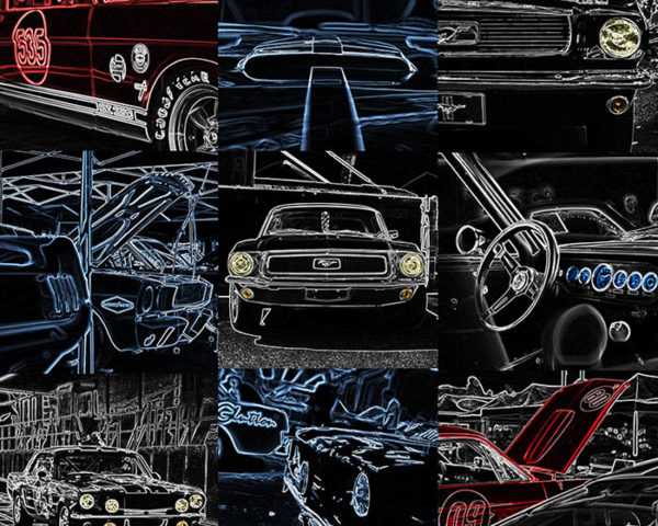Wall Art Creation Ford Mustang