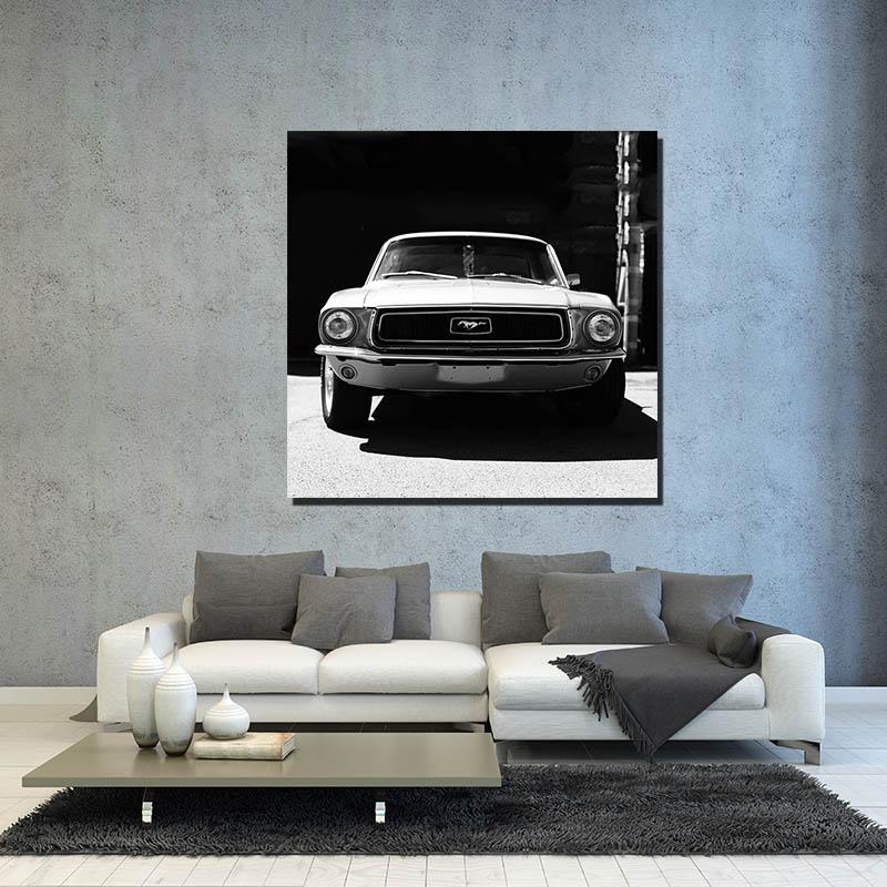 Wall Car Photo Mustang