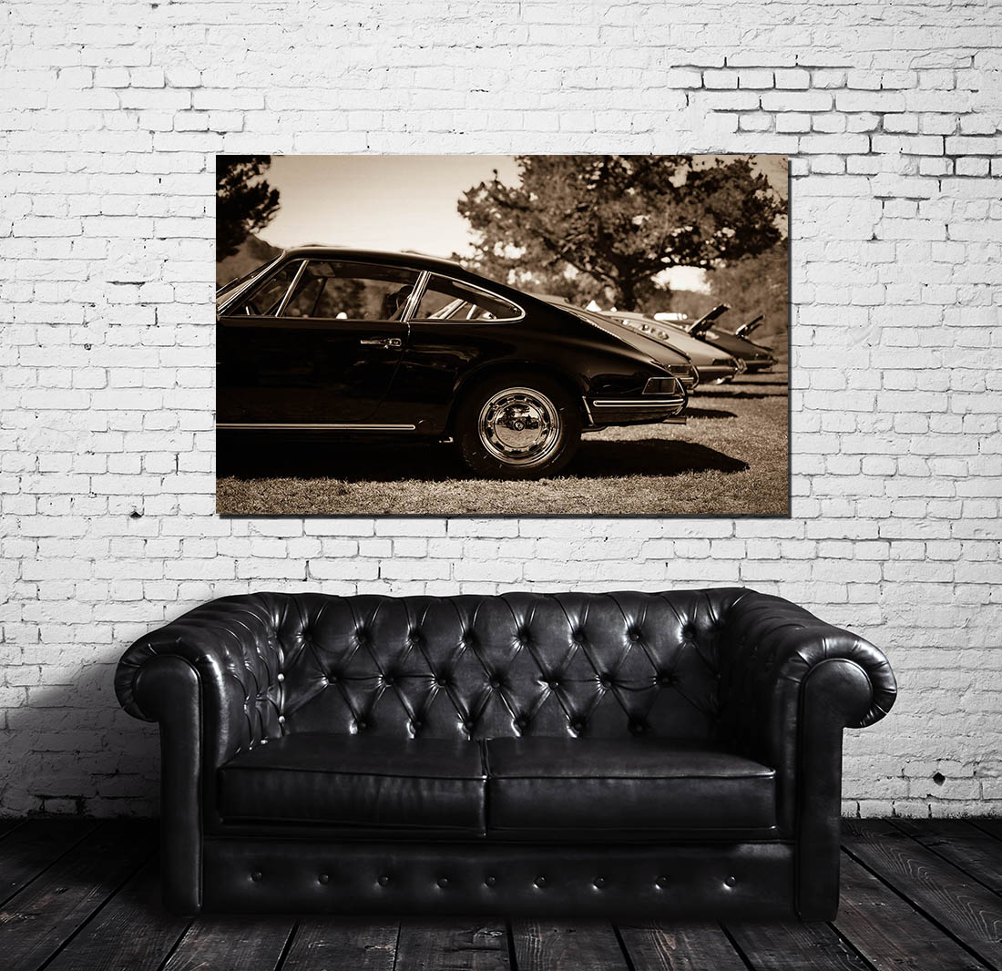 Wall Cars Photographs Porsche Sepia