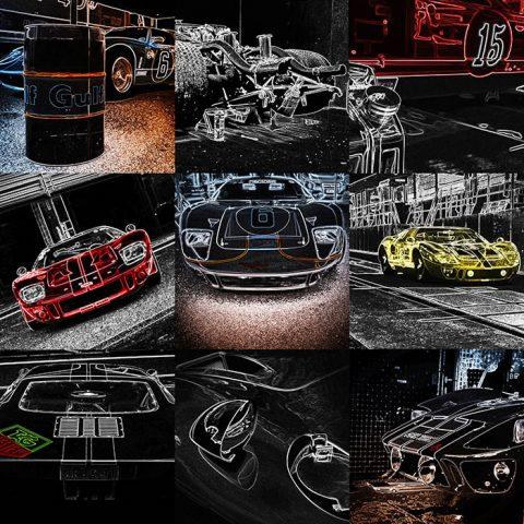Wall Pop Art Ford GT40