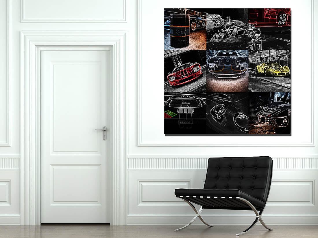 Walls Pop Art Ford GT40