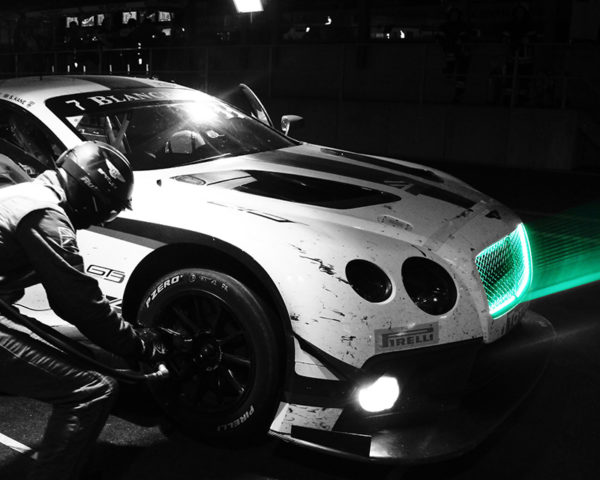Bentley GT3 by night - Green Led