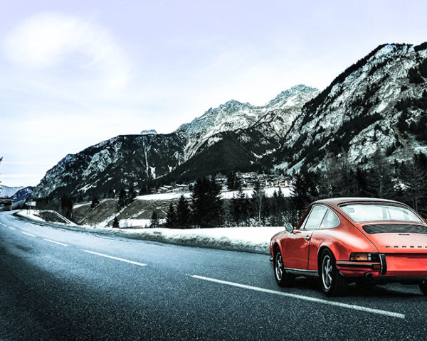 In the Mountain with a Porsche