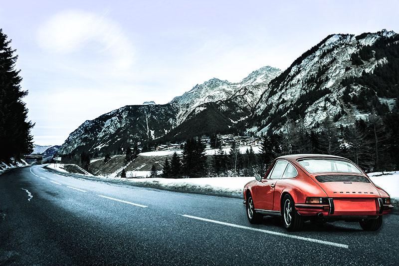 In the Mountain with a Porsche