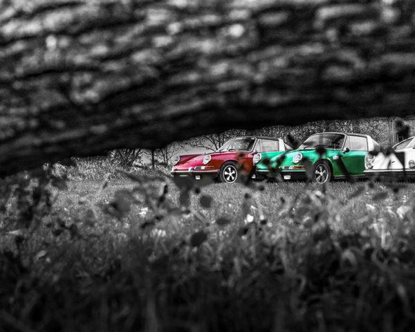 Decorative Photograph Porsche Targa
