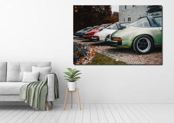 Line of Porsche 911 Photographs