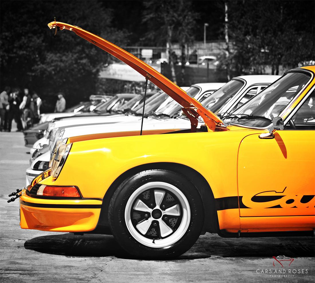 Porsche 911 Car: Porsche 911 Carrera RS 2.7 Hood Open #27 Prints