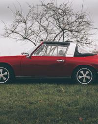 Red Porsche Targa Photograph