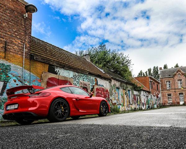 Sport Car Wall Print Porsche GT4