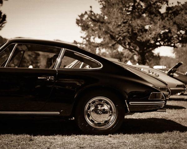 Wall Car Photograph Porsche Sepia