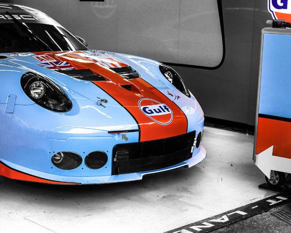 Wall Photograph Porsche Gulf