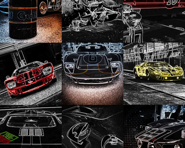 Wall Pop Art Ford GT40